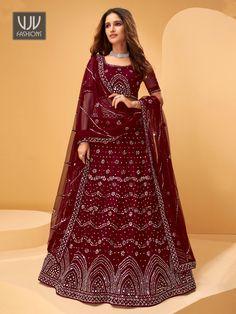 Rs11,100.00 Lehenga Style, Silk Lehenga, Wedding Skirt, Wedding Wear, Indian Dresses, Indian Outfits, Bridal Lehenga Collection, Indian Bridal Lehenga, Choli Designs