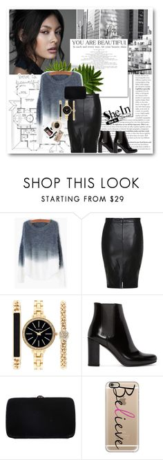 """""""Shein contest"""" by gaby-mil ❤ liked on Polyvore featuring Style & Co., Yves Saint Laurent, Sergio Rossi, Bobbi Brown Cosmetics, Casetify, women's clothing, women's fashion, women, female and woman"""