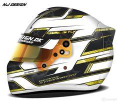 Helmet design for Dennis Strandberg. Matt black with matt dark gray star…