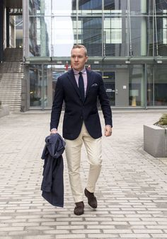 Off-White Trousers And Brown Suede Double Monk Strap Shoes - The Nordic Fit