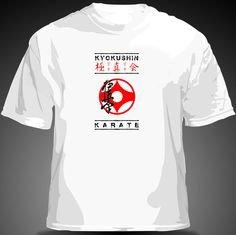 KYOKUSHIN T-SHIRT    This Premium Quality pre shrunk Cotton made to order t-shirt features a very artistic depiction of the Kyokushin legendary Karate Emblem, in a very unique and skilful design, placed centrally on the t-shirt. The outstanding quality of this t-shirt together with the elegant and artistic design of the image featured, makes it a very collectible item for every Martial Arts' enthusiast as well as a unique and well thought out, collectible and treasured gift.    Available…