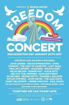 """According to Politico, Mark Ross, a concert promoter and the son of the late Time Warner CEO Steve Ross, is in the process of putting together a large-scale concert called """"We the People"""" to DIRECTLY compete with Donald Trump's inauguration.   The organizers are looking to hold the event in Miami"""