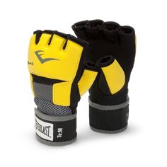EVERLAST EVERGEL GLOVE WRAPS XL-YELLOW-boxing training mma handwraps