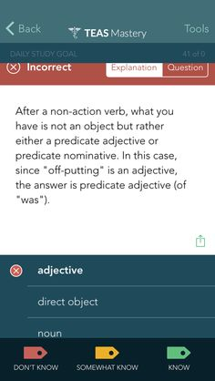 Check out this question from ATI TEAS Mastery! Study for your own exam anywhere, anytime.