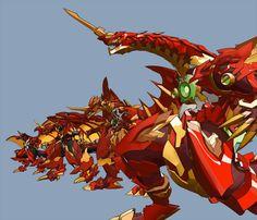 Dragonoid and his 3 evolutions: Hyper Dragonoid,Titan Dragonoid and Dragonoid Maximus. Kamen Rider Kabuto, Bakugan Battle Brawlers, Dragon Design, Peregrine, Mythical Creatures, Werewolf, Boruto, Beast, Pokemon