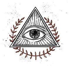 Photo about Hand drawn vector illustration - All seeing eye pyramid symbol. Freemason and spiritual. Vintage. Illustration of design, omnipotence, hipster - 68513847