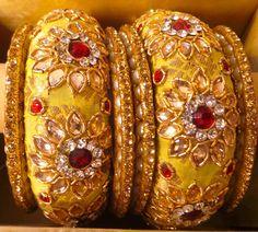 kundan work bangles