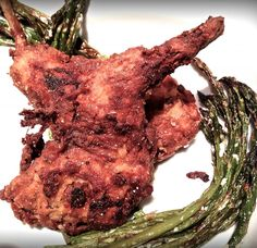 Fried Rabbit Recipe with Asparagus and Garlic