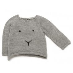 Pullover with eyes and nose