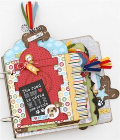 Perfect mini album for your mischievous puppy or your life long friend. www.paisleysandpolkadots.com