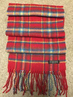 Harris Tweed Pure Wool Luxury Scarf Red, Blue Tartan, or Grey, Brown  Herringbone 047315f56fb