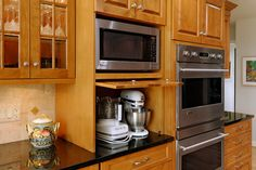 Addition for a Growing Family - traditional - Kitchen - Dc Metro - Courthouse Contractors / Kitchens & Baths Microwave Above Stove, Kitchen Cabinets, Kitchen Appliances, Kitchens, Appliance Garage, Floating Shelves Kitchen, Craftsman Kitchen, Kitchen Design, Kitchen Ideas