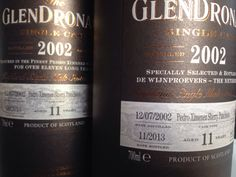 Two Glendronach Casks distilled 12/07/2002, both in my collection.