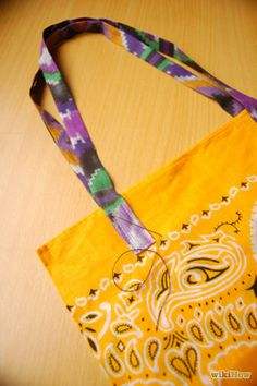 How to Make a Bandana Purse via wikiHow.com #fashion #style #DIY #sew