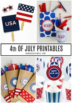 Get ready to celebrate Independence Day with 15 favorite 4th of July Printables! #4thofjuly #printables #free #party 4th Of July Celebration, 4th Of July Party, Fourth Of July, Crafts For Seniors, Crafts For Kids, Toddler Crafts, Preschool Crafts, Labor Day Crafts, Diy Spring