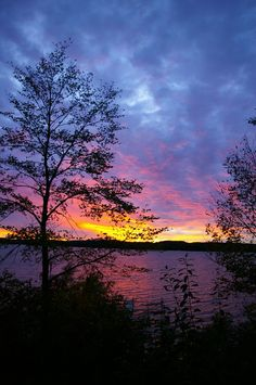 Sunset over Big Lake Chetek Wisconsin 8x12 Fine Art Photographic Print Fire Sky. $24.00, via Etsy.