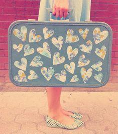 Mod Podge Suitcase | Skunkboy Creations I just realised I've been calling it…