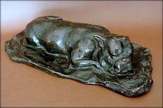 Bulldog in sleep, bronze lost wax F Carvillani Sculptures, Lion Sculpture, Bronze, Needful Things, Wax, Ethnic Recipes, Lost, Sleep, Animal