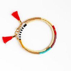 Muliticolor Tassel Bracelet #HandMade #jewelry
