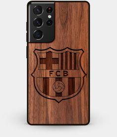 Walnut Wood FC Barcelona Galaxy S21 Ultra Case - Custom Engraved Cover