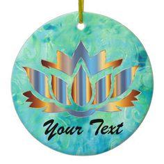 Namaste Lotus Blue Ornament - Xmas ChristmasEve Christmas Eve Christmas merry xmas family kids gifts holidays Santa