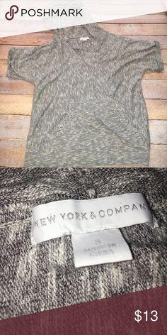 NY&Co Slub Knit Summer Ready short sleeved hoodie ✔️NY& Co Slub Knit lightweight short sleeved hoodie ✔️Pull on style ✔️Rolled sleeves ✔️Adjustable hood ✔️Front Pocket New York & Company Tops