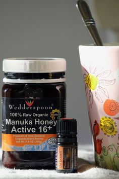 Natural Antibiotic Remedies & Why They Work -Recipe for Antibiotic Tea from Camp Wander--Stir a heaping teaspoon of Manuka Honey and 2 drops of On Guard  Immunity blend in a cup of very warm water for a powerful dose of nature's antibiotics!  Perfect for a sore throat, cold and cough, congested chest and flu symptoms.  Drink as needed.