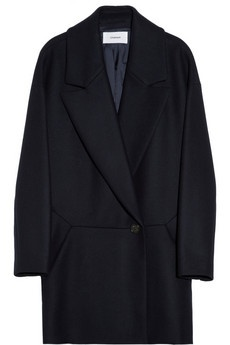 8 Chalayan navy blue wool oversized coat