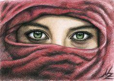 "Saatchi Online Artist Nicole Zeug; Drawing, ""Magic Eyes"" #art"