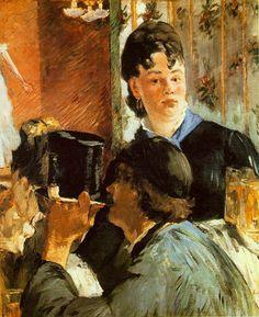 Edouard Manet - The Waitress (oil on canvas, 1879)