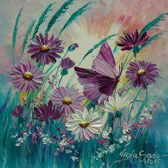 MOTYL Viola Sado obraz olejny 25 x 25 cm (5770444680) - Allegro.pl - Więcej niż aukcje.