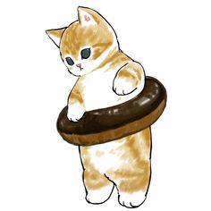 Kitty Drawing, Cute Cat Drawing, Cute Drawings, Cute Cats And Kittens, Kittens Cutest, Cat Icon, Kawaii Doodles, Sand Art, Cat Wallpaper