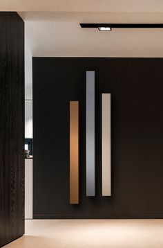 BEAMS MONO, Wall-mounted aluminium decorative radiator Wall Radiators, Best Radiators, Decorative Radiators, Kitchen Radiator, Wall Design, House Design, Hall Furniture, Designer Radiator, Clinic Design
