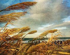 Golden Wind on the Beach, Greece, Travel Photography, Home Decor, Shabby Sky, Crete, Europe, Fine Art via Etsy