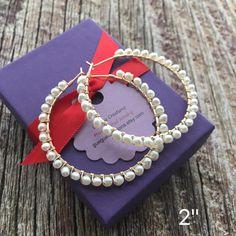 Gold Statement Earrings, Gold Hoop Earrings, Bridal Earrings, Pearl Earrings, Custom Earrings, Unique Earrings, Wire Jewelry Designs, Jewelry Accessories, Stylish Jewelry