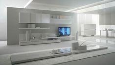Modern Living Room Interior Design Tips Wall Unit Designs, Tv Unit Design, Room Interior Design, Living Room Interior, Furniture Design, King Furniture, Muebles Rack Tv, Modern Tv Wall Units, Muebles Living