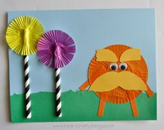 The lorax dr seuss kids craft march lesson plans детские Kids Crafts, Dr Seuss Crafts, Daycare Crafts, Classroom Crafts, Book Crafts, Classroom Ideas, Future Classroom, Dr. Seuss, Dr Seuss Week