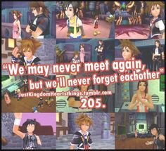 Kingdom Hearts, then he gets there and leon tells him that they forgot about him. poor sora!