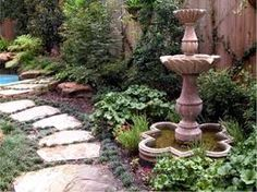 Fountain & Large Stepping Stones