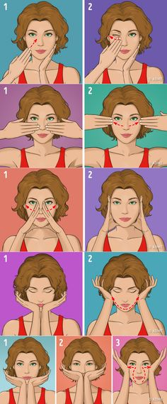 The Japanese facial massage relieves wrinkles and skin - . Beauty Tips For Glowing Skin, Health And Beauty Tips, Beauty Skin, Health Tips, Yoga Facial, Gym Workout Tips, At Home Workouts, Massage Facial Japonais, Health And Fitness Magazine