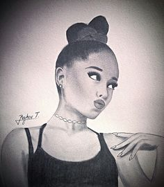 Ariana grande drawing 2015