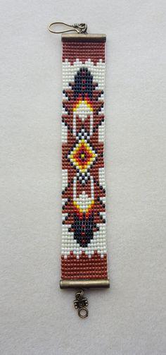 Telar hecho a mano con cuentas estilo americano nativo 01