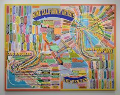 """Some California Artists & Venues About Loren Munk  Since establishing his studio in New York in 1979, Loren Munk has focused his practice on its art scene, meticulously tracing its history and interconnections in his paintings, writings, and videos. Focused on process and materials in his early work, he produced mixed-media paintings as part of the Kitsch Art and New York Neo-Expressionism movements. In the mid-1990s, he created the persona """"James Kalm"""" and entered the artistic discourse as…"""