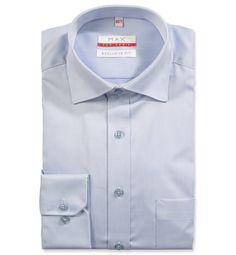 1c3531ea7 Modern Fit polopriliehavá modrá jednofarebná košeľa Tvil (keprová tkanina)