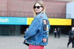 The 30 Best Street-Style Snaps From LFW #refinery29  http://www.refinery29.com/43391#slide-19  You know she's with the band.