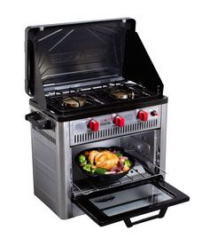 This camping oven unlocks all the cooking capabilities of a home oven and range. Prepare delicious homemade meals without leaving the campsite. Utilize the newly added thermostat controls. Camping Oven, Best Camping Stove, Camping Meals, Camping Recipes, Camping Kitchen, Outdoor Oven, Outdoor Cooking, Camping Must Haves, New Stove