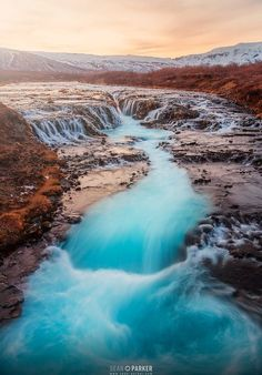 """Beautiful Blue"" -Brúarfoss, Iceland."