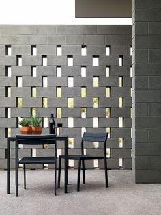 peekaboo brick wall partition