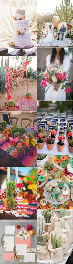 rustic cactus wedding ideas and themes / http://www.deerpearlflowers.com/cactus-wedding-ideas/