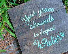 sign oceans hill song | ... Waters- Hillsong United Ocean's lyrics Hand painted Pallet Wood Sign